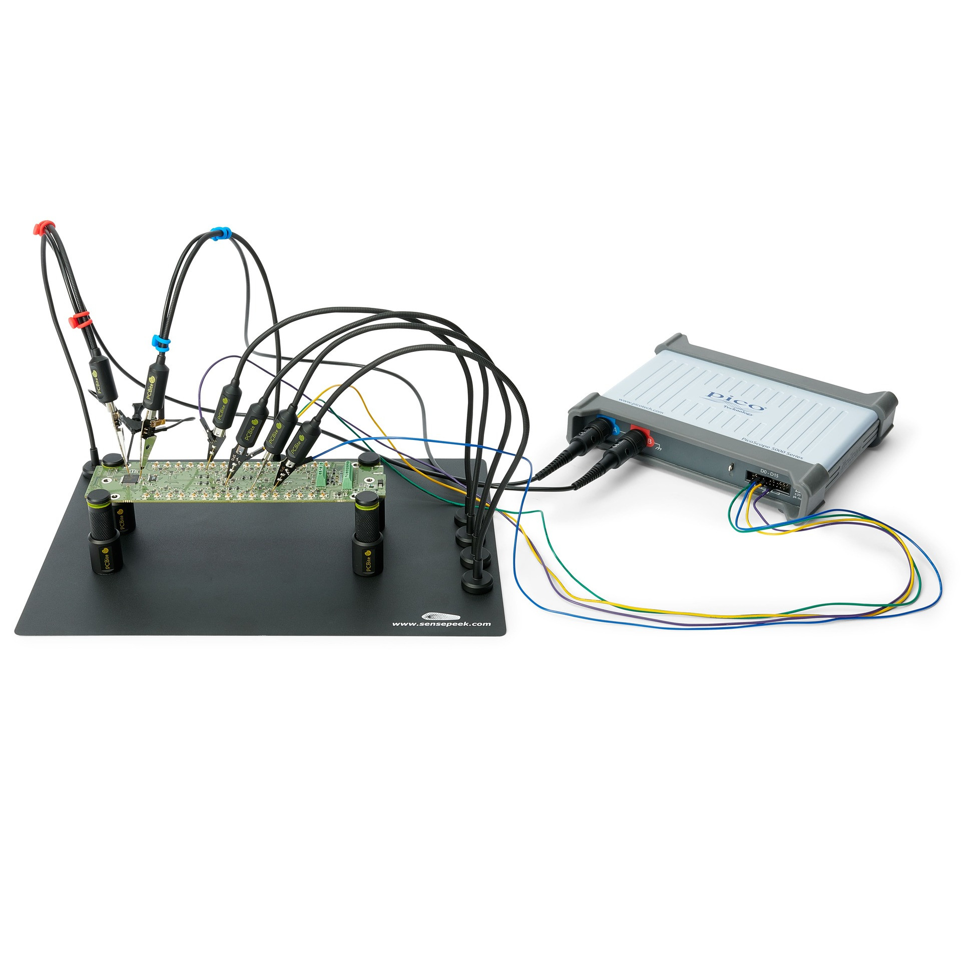 PCBite kit with 2x 200MHz and 4x SP10 handsfree probes details