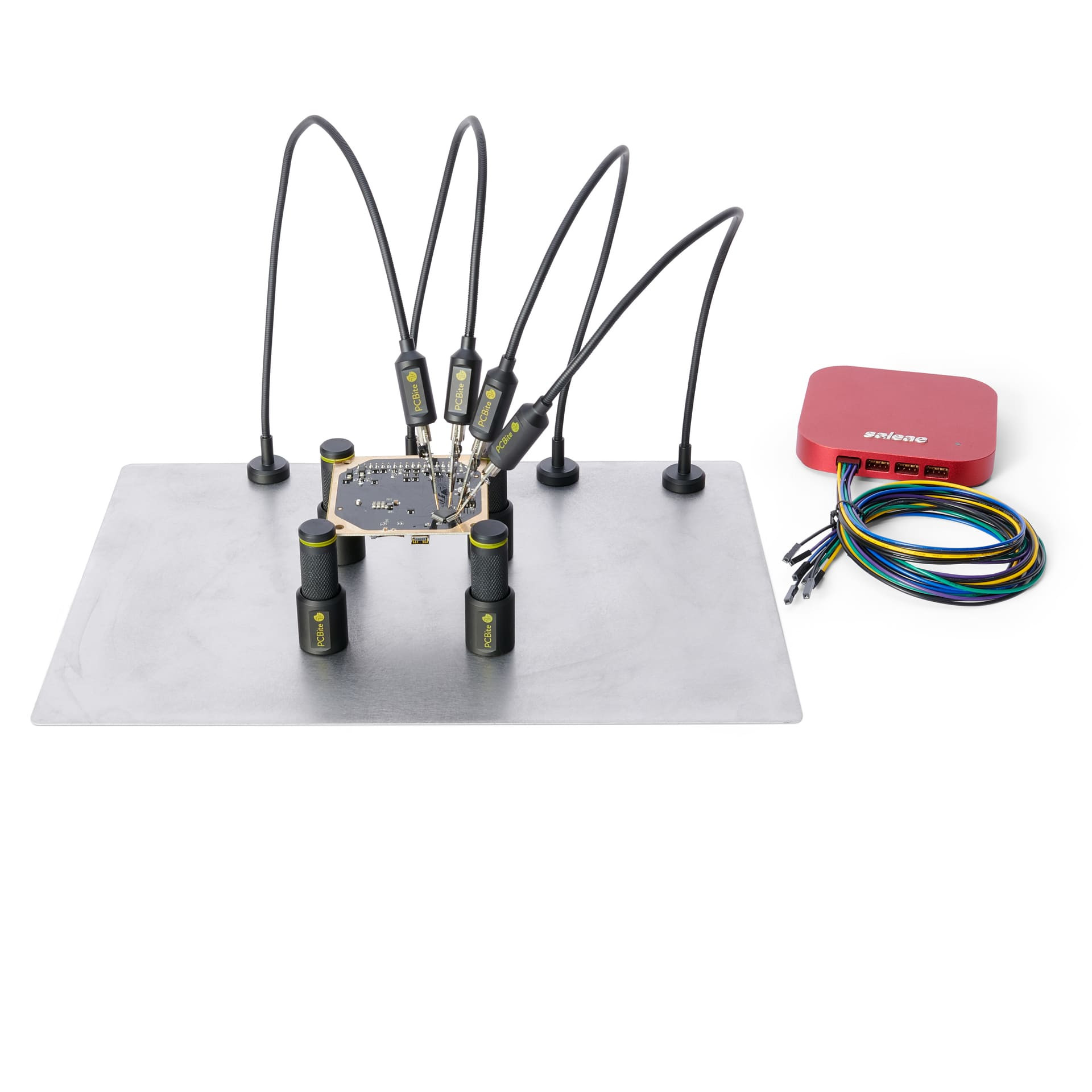 PCBite kit with 4 holders and test wires
