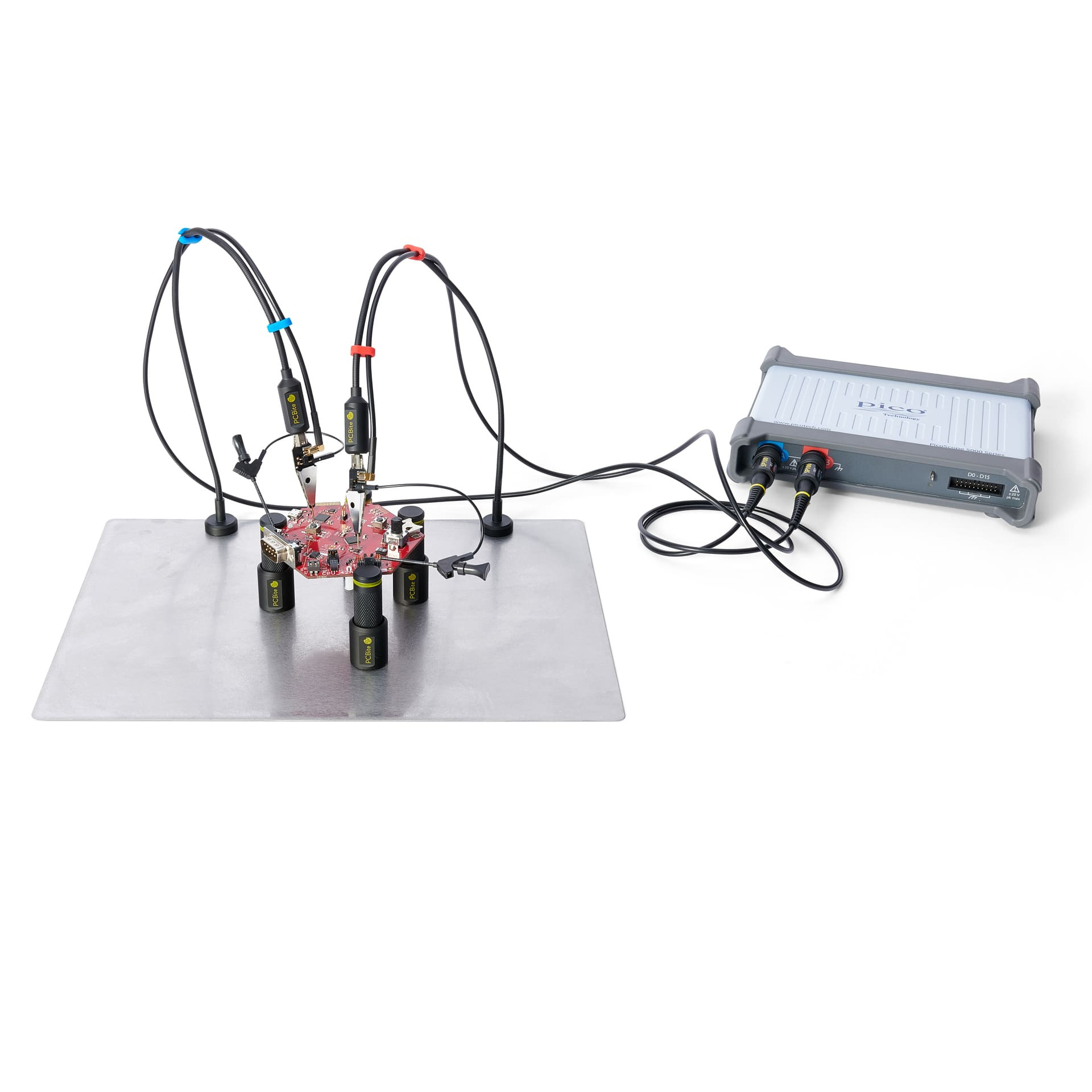 PCBite kit with 2x SP100 100 Mhz hands-free oscilloscope probes