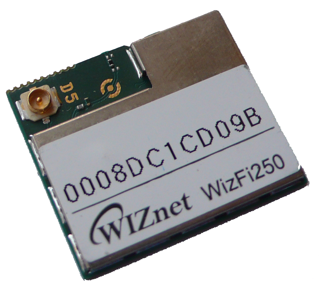 WizFi250-CON with only U.FL connector